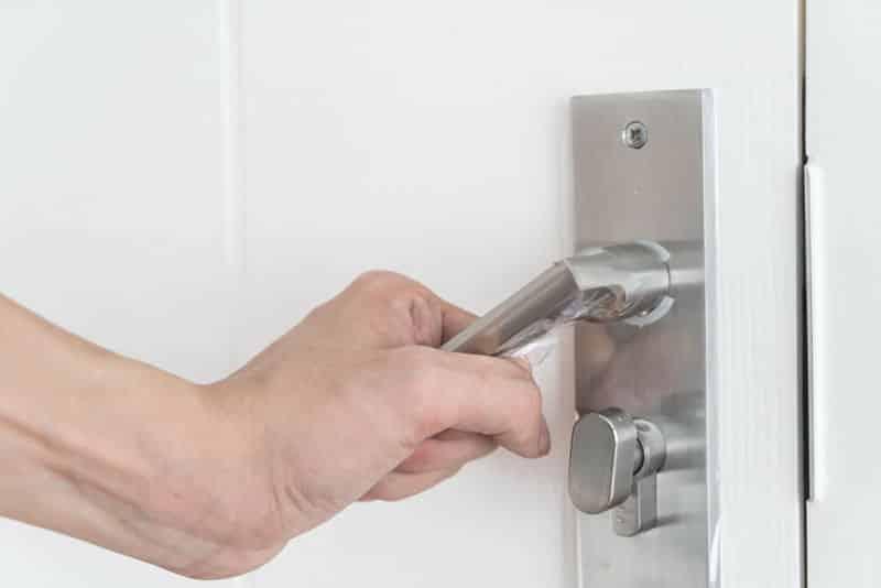 Fix a door lock that won't turn